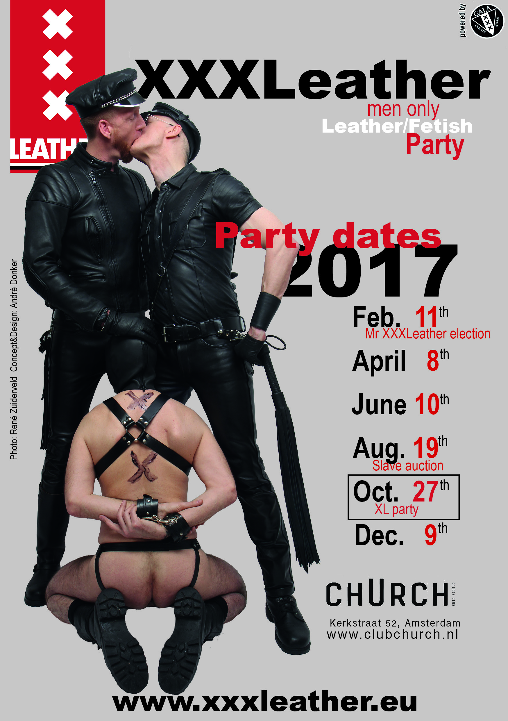 Flyer XXXL party dates 2017